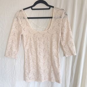 Intimately FP fitted lace shirt